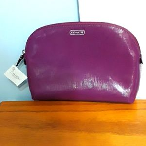 Coach makeup bag in amethyst